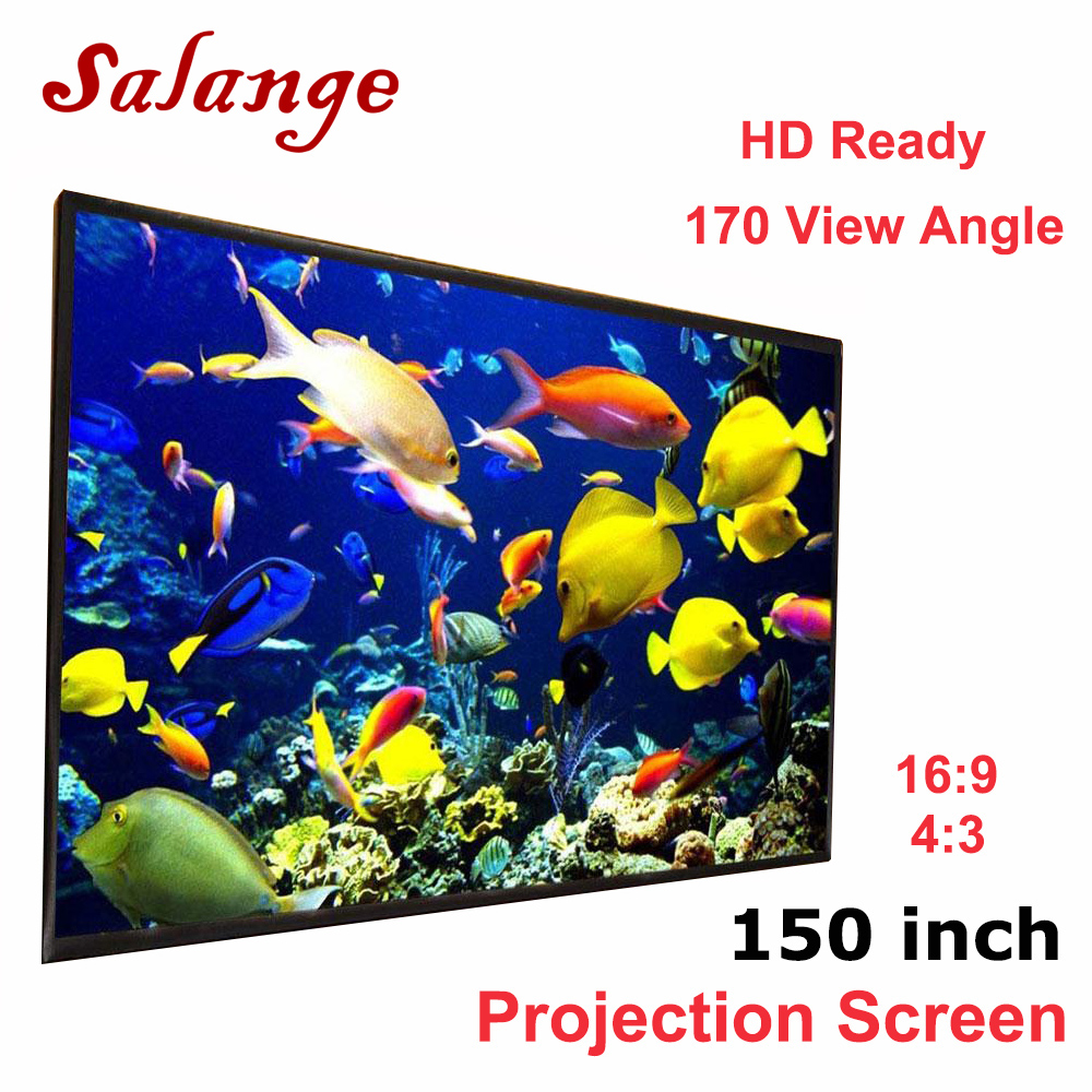 Salange Portable Projector Screen White cloth material Outdoor type 120 150 180 200 250 300 inch Optional 16:9 4:3 for proyector support for customfree shipping 120 inch projector mount screen 16 9 gf grey