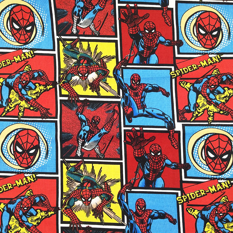 Breite 100 Cm Cartoon Spiderman Stoff Drucken Red Spider Mann