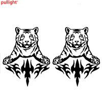 2 x Large Car Side Tiger Flame Stickers Fire Art Graphic 4x4 Vinyl decal