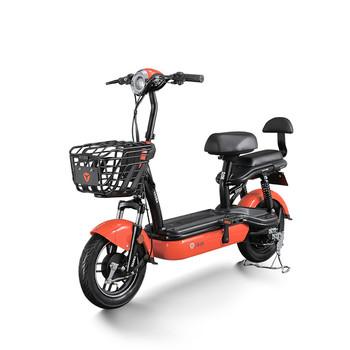 Yadea wspomagany rower elektryczny Ebike 48v12ah akumulator kwasowo-ołowiowy 14 Cal koła darmowa wysyłka do drzwi tanie i dobre opinie Motocykle elektryczne CHINA 14 INCH HCGWORK