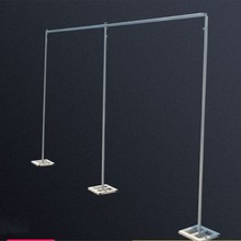 Free Shipping 4m high x 8m wide Wedding Stainless Steel Pipe Wedding Backdrop Stand with expandable