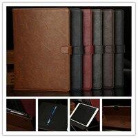 Groothandel Nieuwe Leather Case Voor iPad Air Case, Folio Stand Protector Skin Voor iPad 5 Cover Crazy Horse patroon slim voor ipad air
