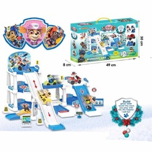 Paw patrol toys set action figure/anime figure paw track car toy patrulla canina Bus rescue gift