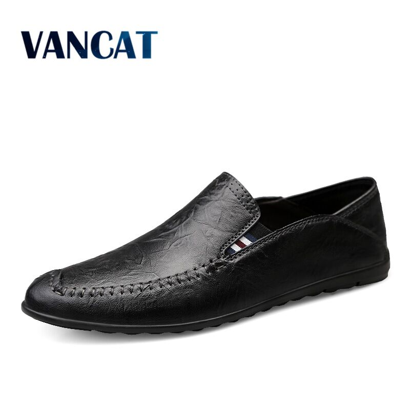 Men Casual Shoes Summer Genuine Leather Men Loafers Moccasins Slip On Men's Flats Breathable Male Driving Shoes Size 38-47