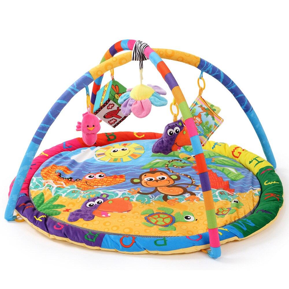 Fun plage singe dessin animé bébé jouet bébé jouer tapis intérieur bébé enfants jeu éducatif Gym couverture sport ramper tampons
