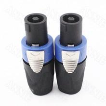 цена на 50pcs/lot High Quality NL4FC SPEAKON Audio Ohn Socket With Cable 4 Pin Professional Speaker Connector