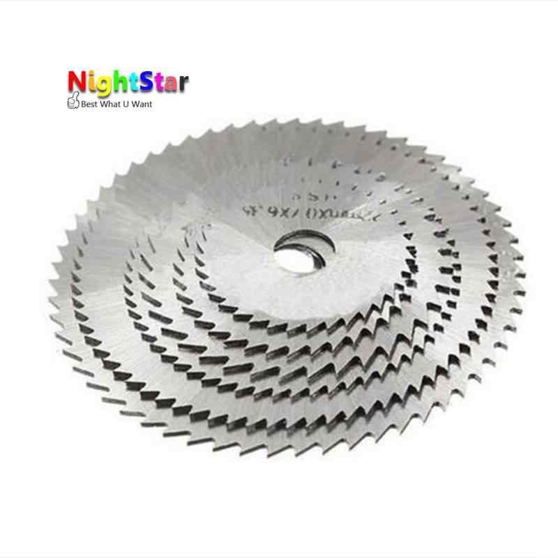 7pcs Metal HSS Circular Saw Blade Woodworking Cutter Discs Wood Cutting For  Dremel Rotary Tool Mandrel Set