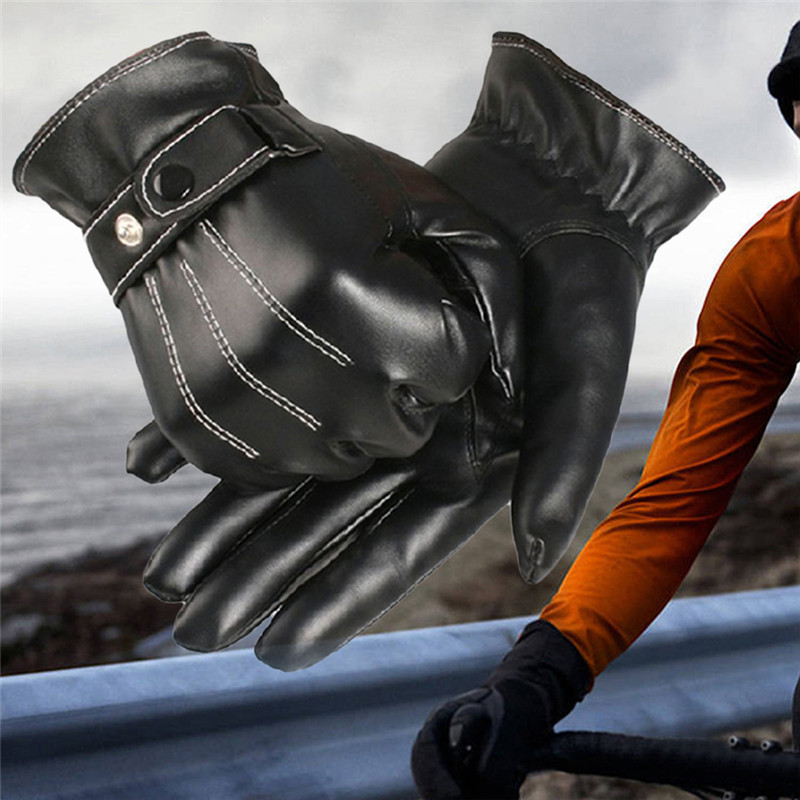Ski Gloves leather men winter Sensory tactical gloves wrist drive Gloves