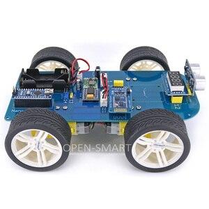 Image 2 - Dễ dàng Cắm 4WD Nối Tiếp Bluetooth Kiểm Soát Cao Su Bánh Răng Bánh Xe Động Cơ Thông Minh Xe X Kit với Hướng Dẫn đối với Arduino Nano/ UNO R3/Mega2560