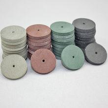 40 шт./резиновые полировальные колеса стоматологические украшения роторный инструмент 4 цвета полировщик смешанные цвета