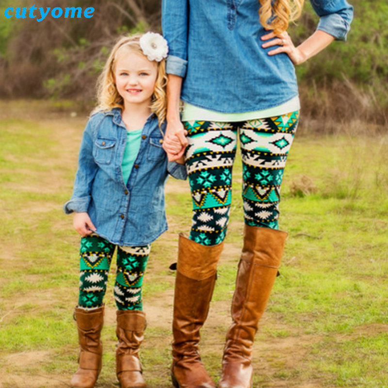 Matching Mother And Daughter Clothes Family Look Matching Pants Outfits Mommy And Me Kids Girls Women Leggings Suit Clothing 2017 summer children clothing mother and daughter clothes xl xxl lady women infant kids mom girls family matching casual pajamas