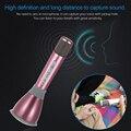 K068 Mini Alloy Karaoke Player Wireless Bluetooth 3.0 Microphone Handheld Condenser Artifact Gold/Rosy Mikrofon