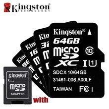 Kingston класс 10 микро-tf флэш-карты sd 8 ГБ 16 ГБ 32 ГБ 64 ГБ памяти C10 мини SDHC SDXC карты памяти MicroSD для смартфонов Камера