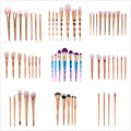 New Rose Gold Makeup Brushes Kit Set Powder Foundation Eyeshadow Eyeliner Lip Brush Tool Colorful Concave Handle Comstic Brushes