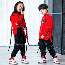 992278947c56 Stage Competition Korean Style Jazz Hiphop Dance Costume Hip Hop Clothes  Children Pop Street Dance Wear Suit for Kids Boys Girls