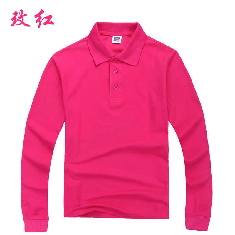 Новая мужская осенне-зимняя 100% сетчатая Хлопковая мужская рубашка поло с длинным рукавом, Однотонная рубашка camisa