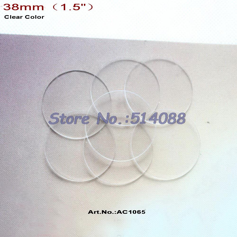 (40pcs lot) 38mm Blank Clear Acrylic Discs Beads Circle Earrings Necklace  Accessories Bulk 6154caf269c8