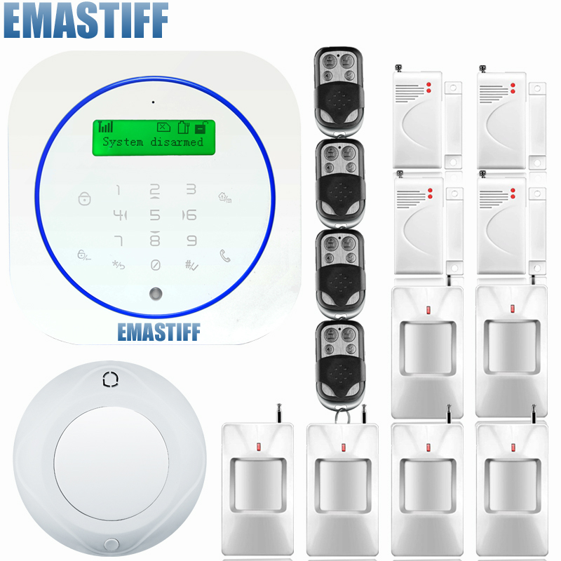 English italian Spanish french voice Wireless wired Home Security GSM Alarm System with Android APP Remote Control Alarm system wireless smoke fire detector for wireless for touch keypad panel wifi gsm home security burglar voice alarm system