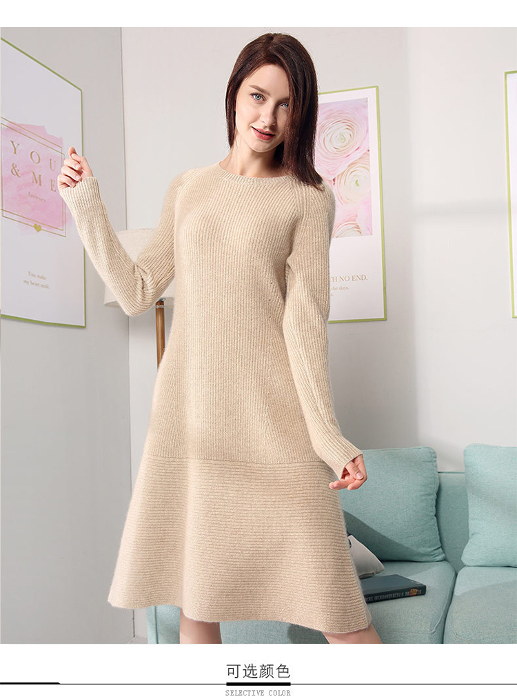 c4dce99efbb 2019 Casual Knitted Sweater Dress For Women Winter Female Long ...