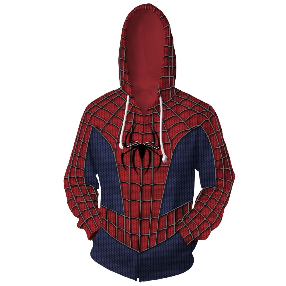 Free shipping woman and man's Marvel Comics new design spiderman 3D printed anime cosplay coat Hoodie jacket JQ-2628