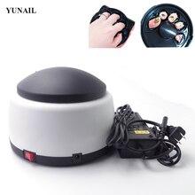 Yunail quitaesmalte de vapor eléctrico 110-240 v del clavo del gel limpiador inofensivos 5 dedos gel rápido dispositivo de limpieza