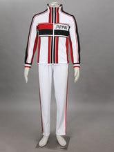 The prince of tennis anime japón u17 invierno blanco uniforme de halloween cosplay