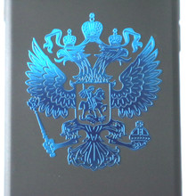 CK2887#3.4*4cm Coat of Arms of Russia Nickel Metal Car Stickers Decals Russian Federation Eagle Emblem for Car Styling Laptop(China)