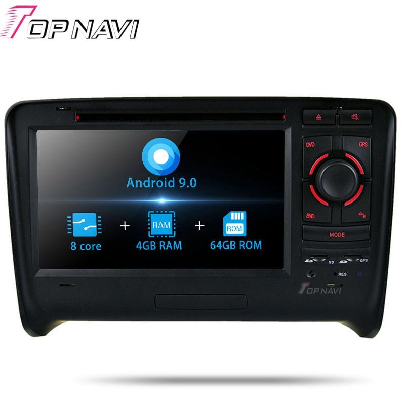TOPNAVI Android 9.0 Car Radio Stereo Video Player For Audi TT (2006 2007 2008 2009 2010 2011) Car DVD Multimedia GPS Navigation