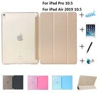 Ultra Slim Smart Magnetische Faux Leather Crystal Plastic Smart Case voor Nieuwe iPad Air 10.5 Pro 10.5 inch