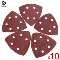 Durable Quality 10pcs/set 90mm Aluminium Oxide Grit Sanding Delta Sand Paper Pads Triangle 40 60 80 100 120g|pad calculator|paper pp|pad application -