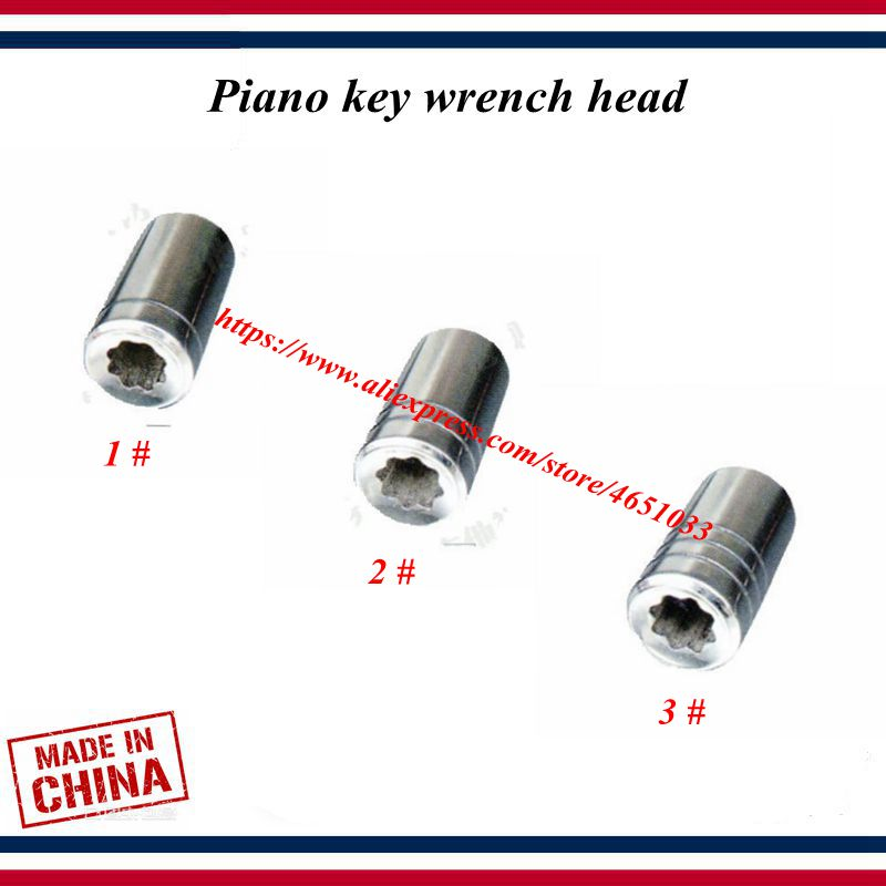Piano Tuning Tools Accessories - Piano Key Wrench Head-Replaceable Wrench Mouth,Octagon Mouth/plum Blossom Mouth - Piano Parts
