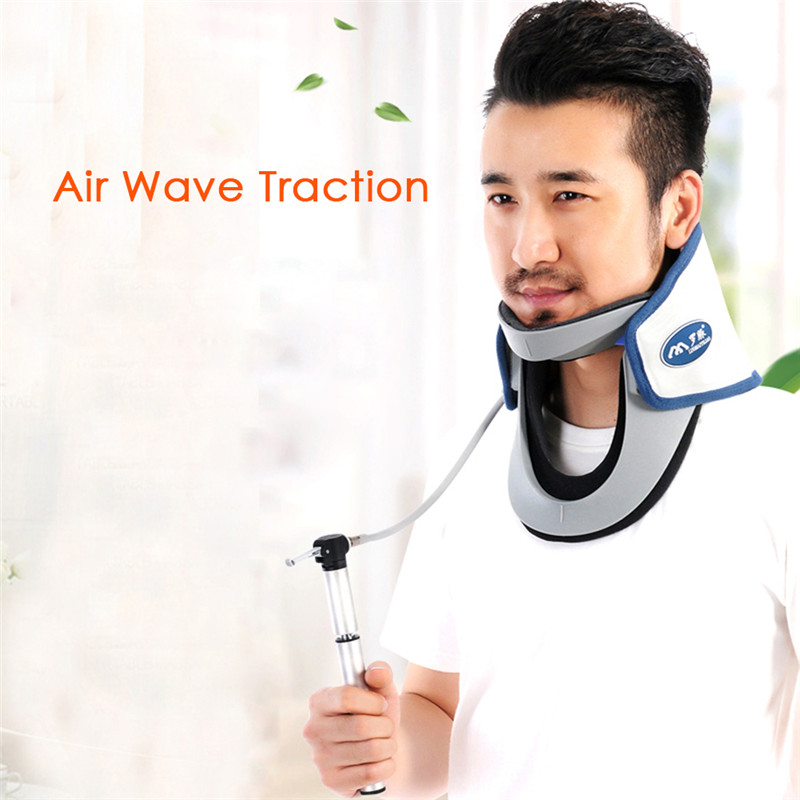 Brand Neck traction device household stretched cervical traction inflatable cervical spondylosis cervical collar hanging neck new neck cervical traction device inflatable collar head back shoulder neck pain headache health care massage device