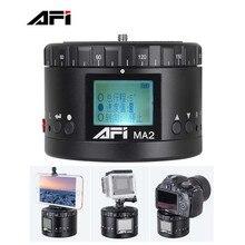 New AFI MA2 Mini LCD Electronic Panorama Head for Smartphones Gopro Hero SJCAM SJ4000 For Canon 5D 7D Nikon D800 DSLR Cameras