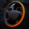 DIY Fiber Leather Sport Car Steering Wheel Cover 4 Color Diameter 38cm Auto Car Stitch On Wrap Cover With Needles And Thread
