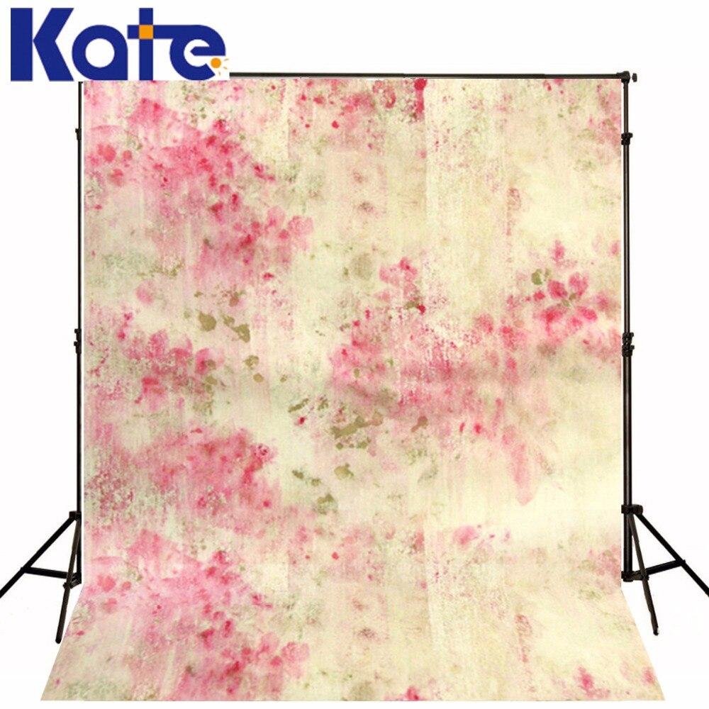 Kate Flower Children 5Ft*6.5Ft(150Cm*200Cm) Photography Backdrops Colorful Painting Watercolor Pink Petal Abstract Background 300 200cm 10ft 6 5ft photography backdrops scattered horse petal branch