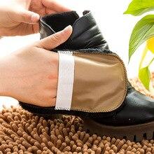 3 unids/lote herramienta de cuidado de zapatos portátil paño suave cepillo de limpieza para zapatos de cuero