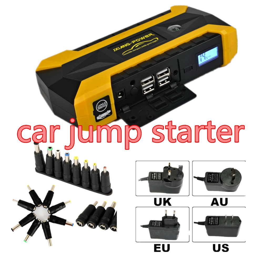 12v car jump starter portable power multi function vehicle start jumper 4usb automotive emergency power supply