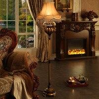 European Style Living Room Floor Lamp Retro Resin Floor Lamp Modern Bedroom Study Bedside Floor Lamp 3 Model Lampshade Choose