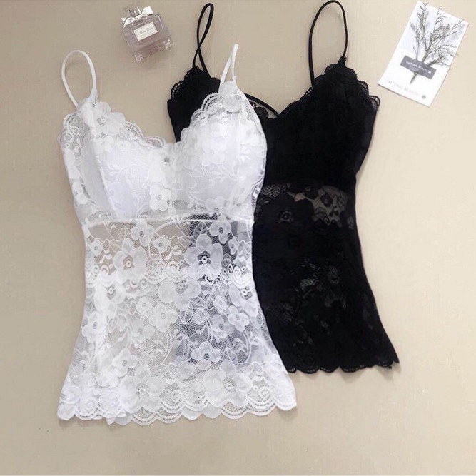WWENN Sexy Lace   Tops   Crop   Top   Women White V Neck Wrap Plain Vest 2018 Summer Regular Fit Sleeveless Casual   Tank     top   cropped