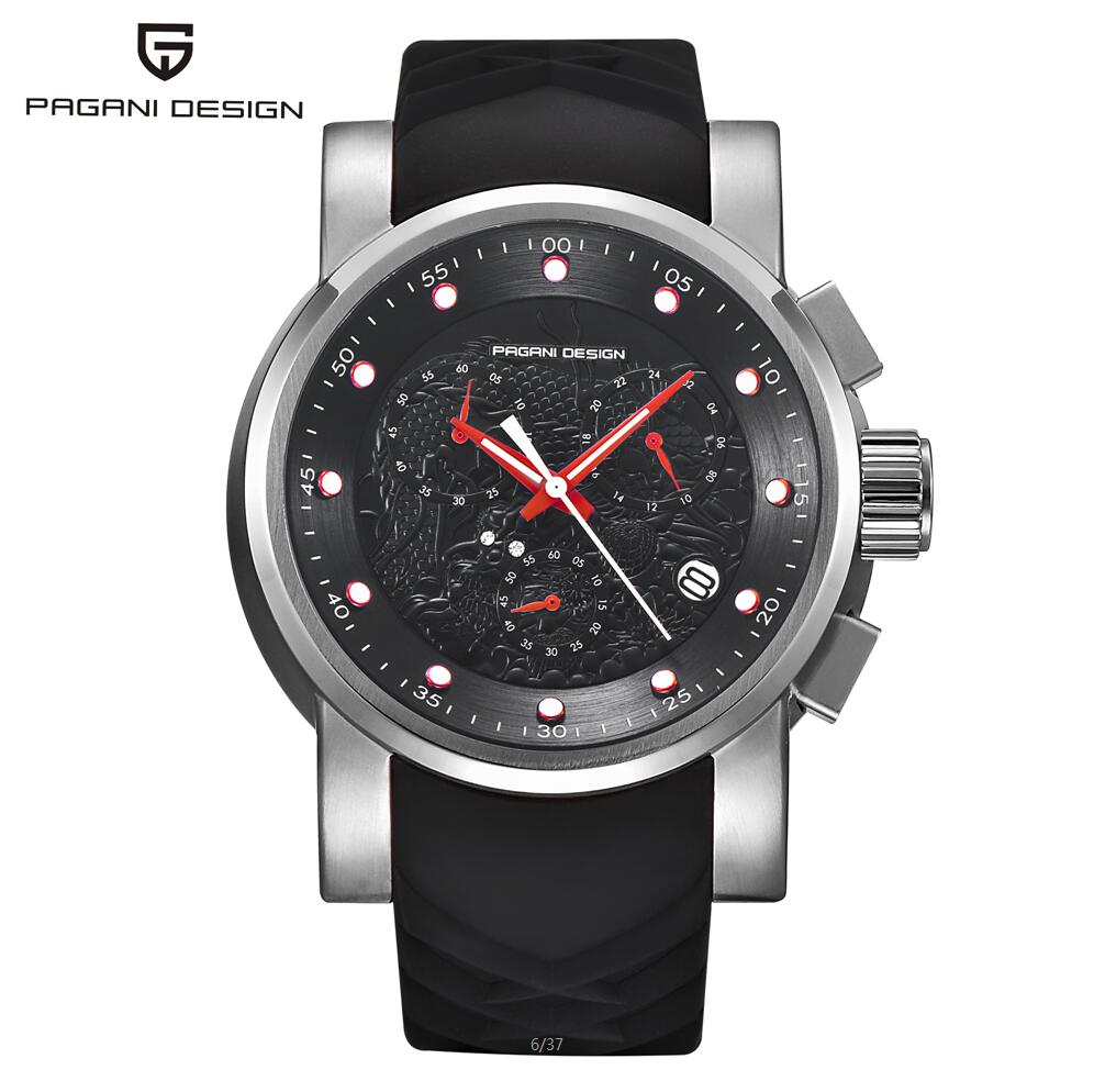 PAGANI DESIGN New Sport Watch Men Multifunction Quartz-watch Fashion Leather Wrist Watches Male Clock Relogio Masculino 2017 splendid brand new boys girls students time clock electronic digital lcd wrist sport watch