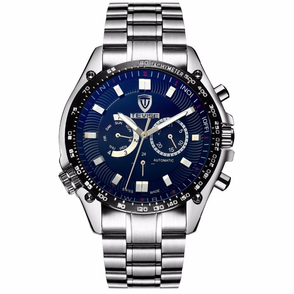 NEW Strap watch male watches luxury brand Automatic Mechanical Wristwatches waterproof Calendar Bussiness relogio masculino F671 цена и фото