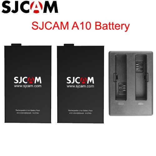 New 100% Original SJCAM A10 2650mAh Backup Rechargable Li-on Battery And Charger Accessories For SJCAM A10 WiFi Sports Camera DV