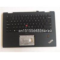 New Original laptop Lenovo Thinkpad X1 Yoga 2nd Gen Palmrest cover case/English Backlit Backlight keyboard cover 01HY810