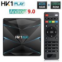 HK1 Play Android 9.0 TV Box Amlogic S905X2 Quad Core 4GB RAM 32GB 64GB 128GB ROM Media Player 4K HD Smart Set Top Box 2GB 16GB
