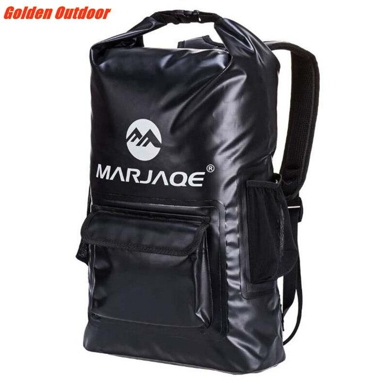 Qualité PVC étanche sac à dos sec 20L en plein air pliable sac de Trekking stockage sac sec sac pour homme femmes natation Rafting Kayak