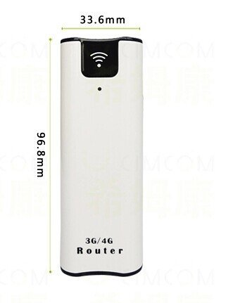 With 2200mAh Power Bank Mini 2G 3G Pocket Wireless Router With SIM Card Slot