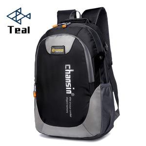 Image 1 - 2020 Hot Sell Male Backpacks School Bag Boys For Teenagers Chain Oxford Waterproof Backpack Men Backpack Casual Nylon backpacks