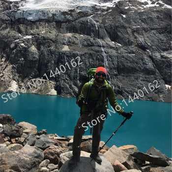 2 pcs/lot 195g/pc Carbon fiber Alpenstock External quick lock Trekking poles hike telescope stick Nordic walking stick