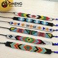 OMENG Handmade Friendship 7row Bracelet Hippy Beaded Friendship Bracelet Rope String Friendship Bracelets For Women MenOSL113