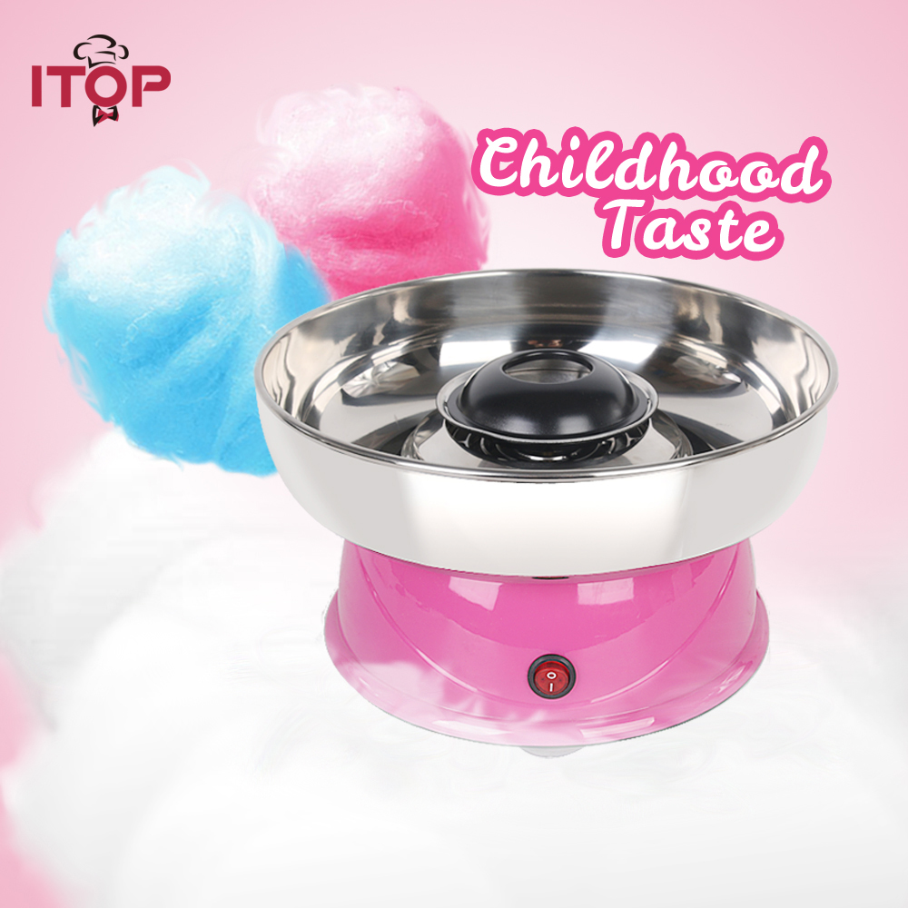 ITOP Electirc cotton candy maker Candyfloss Making Machine Cotton Sugar Candy Floss Maker Fancy art Candy Cloud Party Pink DIY спортивный инвентарь original fittools эспандер в защитном кожухе слабое сопротивление